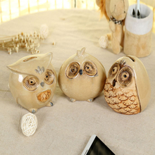 Ceramic Owl Piggy Bank Home Decoration Household Furnishing Articles