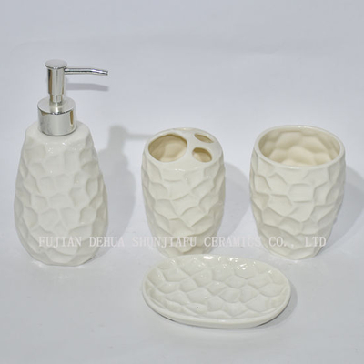 4 PCS Ceramic, Bathroom Accessories Set