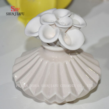 Ceramic Burner Aromatherapy Diffuser Tealight Fragrance Holder with Flower/D
