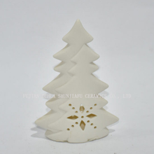 Tobs Tree and White Star Candle Holder - Christmas Candle Light Holder