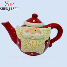 Christmas Snowman Tea Pot, Red