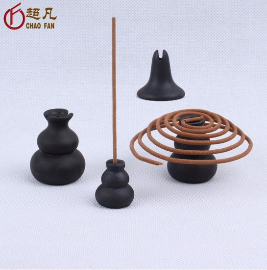 Ceramic Cucurbit Shape Incense Inserted