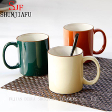 Creative Customization Home Ceramic Multiple Color Tea Cup Coffee Mug.