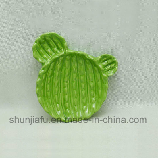 Ceramic Cactus Personality Plate for Home Decoration