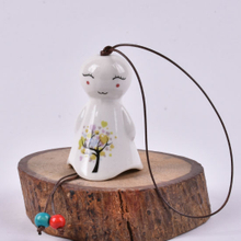 Lovely Porcelain Small Cute Laughing Sunny Flowers Dolls, Wind Bells