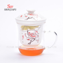More Style and Colors Office Household Flower Tea Cup Ceramic, 400ml