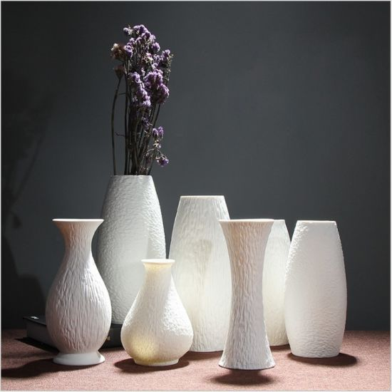 Wholesale Factory Price Various Elegant White Ceramic Porcelain Flower Vase