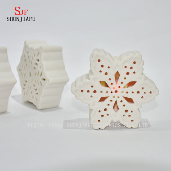 LED Ceramic Candle Stand / Christmas Gift/Halloween