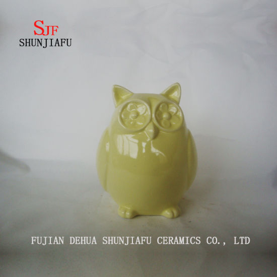 Owl Ceramic Furnishing Articles for Desk Decoration