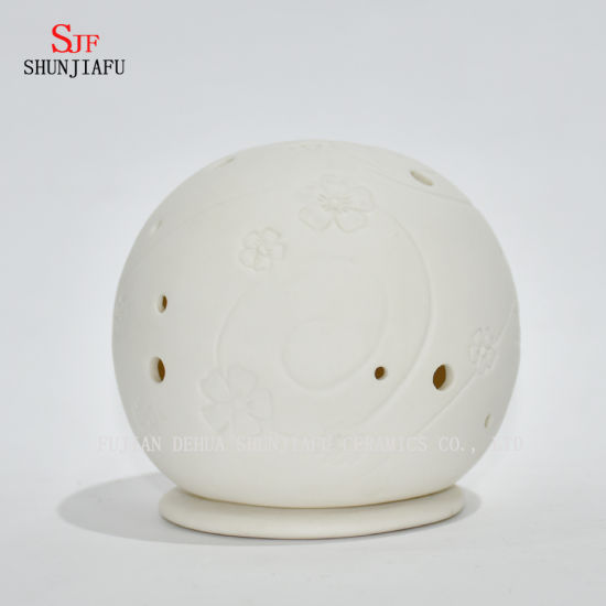 Round Shape Ceramic Candle Holder/Christmas Gift