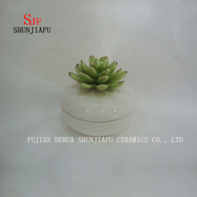Green Flower Small Ceramic Ring Box Jewelry Rouge Box