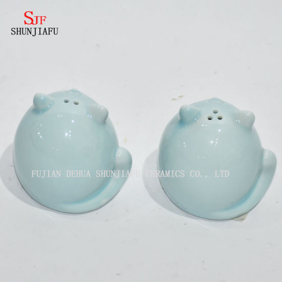 Cat Shape Ceramic Candle Holders/Salt and Pepper Shakers/Gift