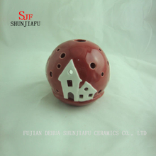 Spherical Shape, Incense Burner for Essence Ceramic (RED)