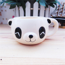 White Ceramic Cup little Small Bear expression logo Dessert Ceramic Ice Cream Bowls Ceramic Ice Cream Cup