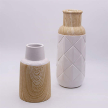 Home Decoration Fashion Wood Grain Ceramic Vase