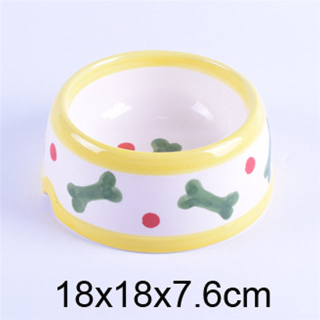 Printing bones image Ceramic Pet Feeder Ceramic Dog Bowl