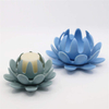 Light Green Ceramic Lotus Candle Stand