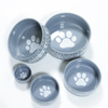 printing white Dog footprints Dog footprints water bowl grain bowl lovely pet products single bowl ceramic bowl