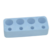 Blue Horizontal Plate 4 Holes Diatomite Toothbrush Holder