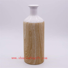 Home Decoration Fashion Vase Wood Grain Ceramic Vase