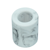 Groove drainage White Marbling Design Diatomite Soap Holder