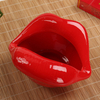 Perfect Lips Barely Opening Ceramic Red Lip Ashtray