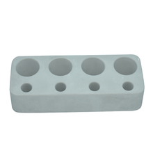 Gray Horizontal Plate 4 Holes Diatomite Toothbrush Holder