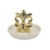 Golden beacon design Ceramic jewelry tray Ring holder