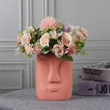 Home Decoration Abstract Faces Decorative Vases Ceramic Face Vase