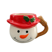 Snowman with Hat Design Ceramic Ice Cream Cup