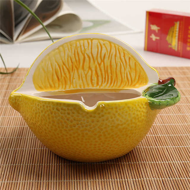 Ceramic Lemon Style Ashtray