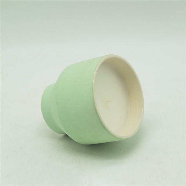 Light Green Ceramic Candle Cups