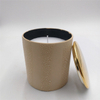 for love Light a romantic fire Gold plated cover Ceramic candle jar