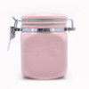With Bamboo Lid Store Candy Cookies Coffee Pink ceramic seal tank