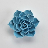 Pink Rose Flower Style Home Decor Wedding Decoration Porcelain Flower Figurine Statue Ceramic Flower