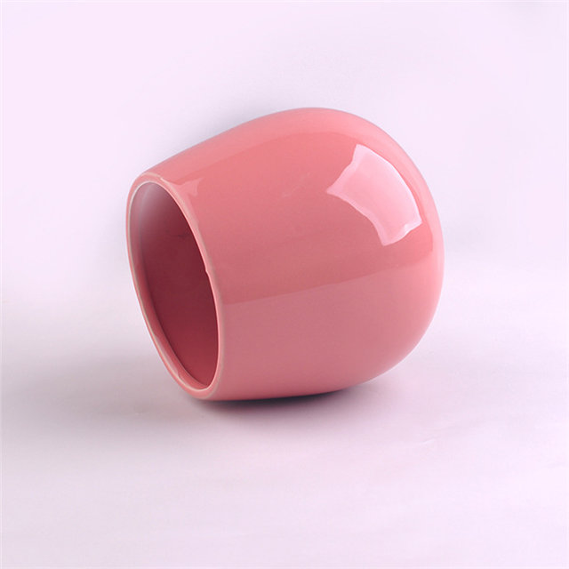 Various Colors pink Ceramic Candle Cup