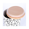 with Bamboo Lid LidMarble Glaze Ceramic Candle Pot