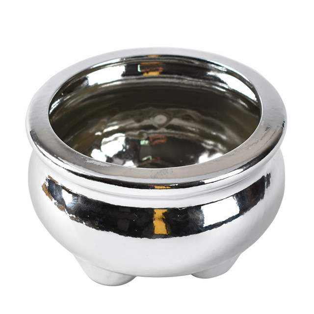 Wedding Supply Censer Holder Ceramic silvery Incense Burner