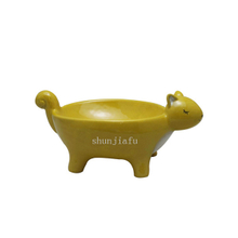 Big Yellow Colors Ceramic Deer Plate