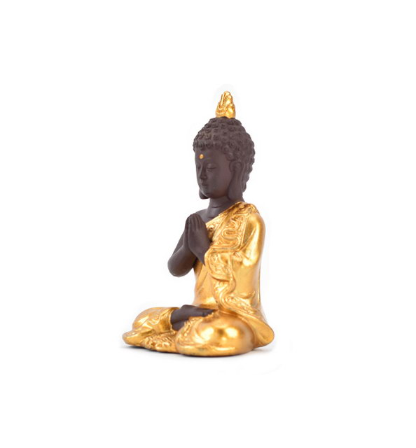 Whole Gold Home Decor Wedding Gift Different Color Choose Guanyin Figurine Golden Ceramic Buddha Statue