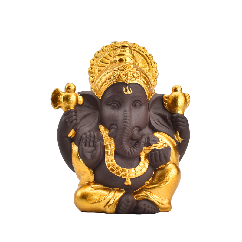 Hot Selling Home Decor Wedding Gift Different Color Choose Golden Ceramic Ganesha Statue