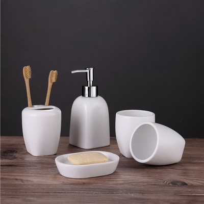 White Color Set Five Hotel Family Use Bathroom Sanitary Accessories Bathroom Accessory Ceramic Bathroom Set